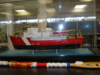Model of a Coast Guard ship